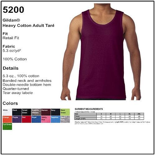 Gildan 5200 - Adult Heavy Cotton Tank Top