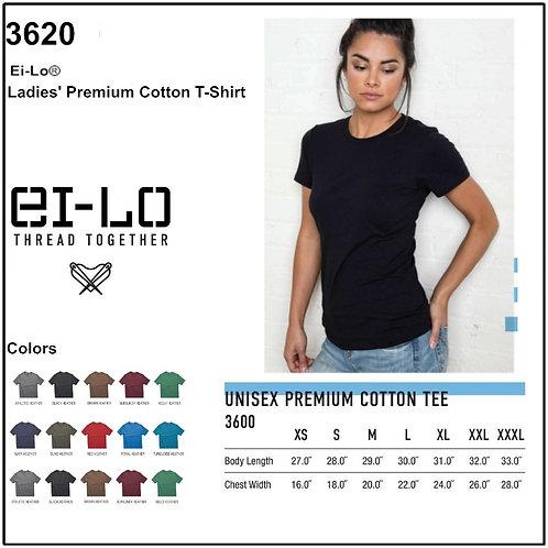 Personalize -Ei-Lo 3620 - Ladies' Premium Cotton T-Shirt