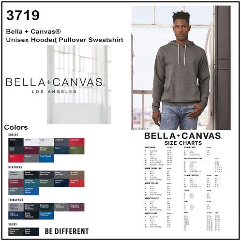Personalize -Bella Canvas 3719 - Unisex Poly-Cotton Fleece Pullover Hoodie