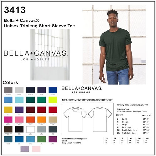 Personalize -Bella Canvas 3413 - Unisex Triblend T-Shirt