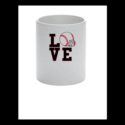 Love Baseball- Ceramic Pen Holder