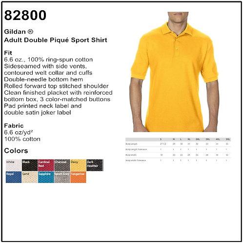 Personalize - Gildan 82800 - Adult Double Pique Sport Shirt