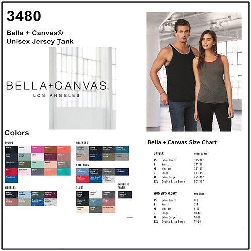 Personalize -Bella Canvas 3480 - Unisex Jersey Tank