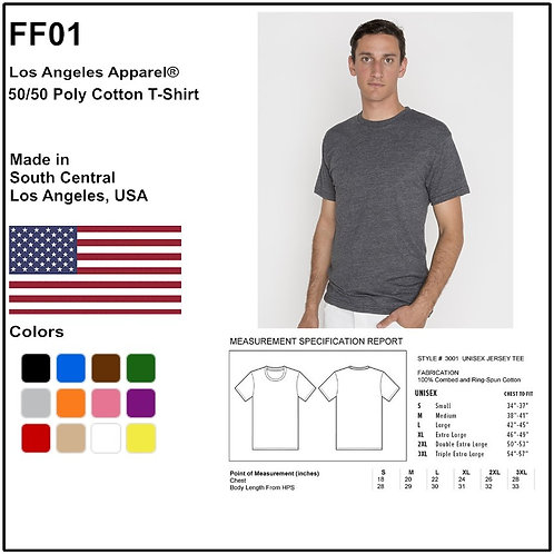 Personalize -Los Angeles Apparel FF01 - 50/50 Poly Cotton T-Shirt