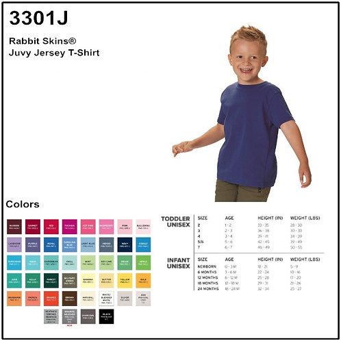 Personalize -Rabbit Skins 3301J - Juvy Jersey T-Shirt
