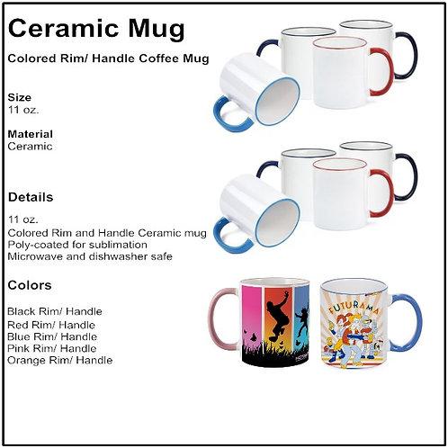 Personalize - Color Rim Coffee Mugs