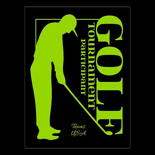 Golf Tournament- Rectangular Plaques
