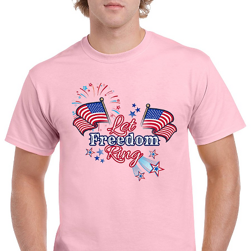 Let Freedom Ring- Memorial Day T Shirt- Pink