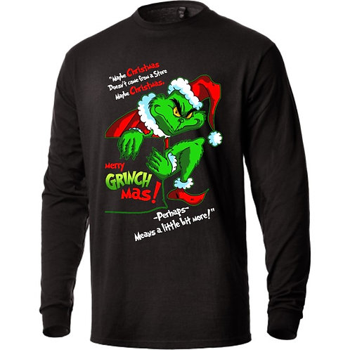 Merry Grinchmas - Unisex Heavyweight LS T-Shirt