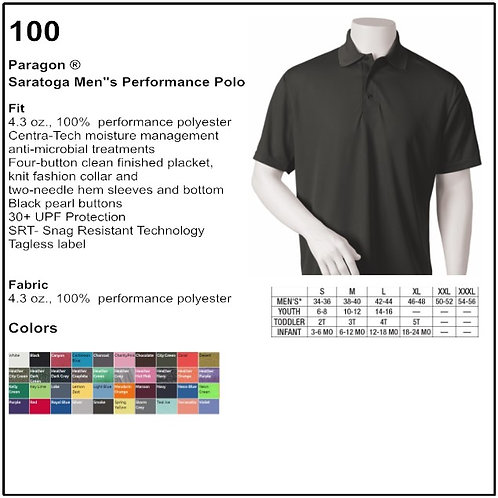 Personalize - Paragon 100 - Saratoga Men's Performance Mesh Polo