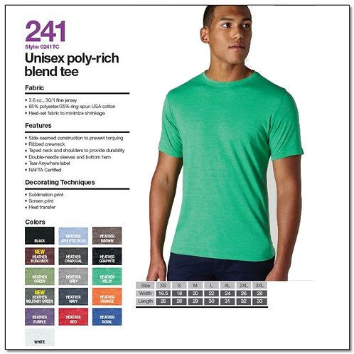Tultex 241 - Unisex Poly-Rich Blend T-Shirt