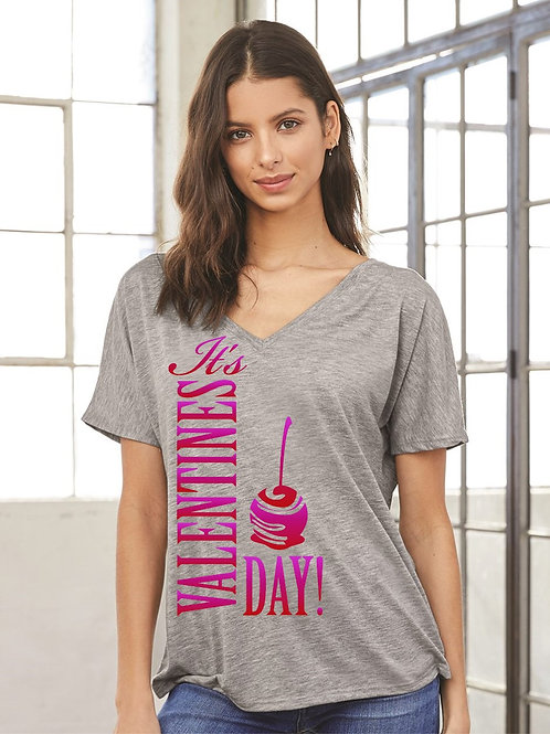 Its Valentine's Day Slouchy V-Neck - Vintage Bella+Canvas BC8815
