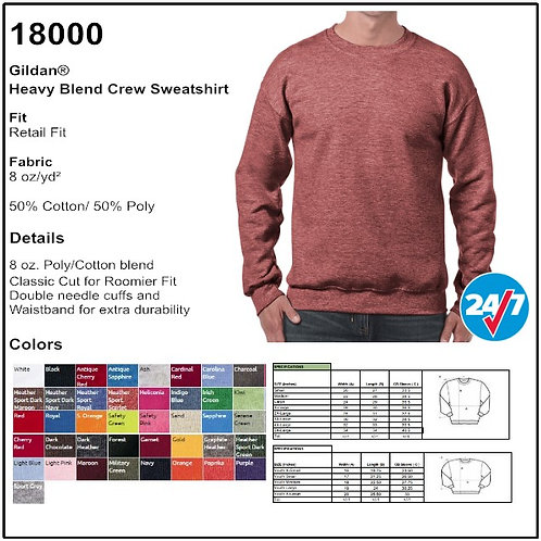 Gildan 18000 - Adult Heavy Blend Crewneck Sweatshirt