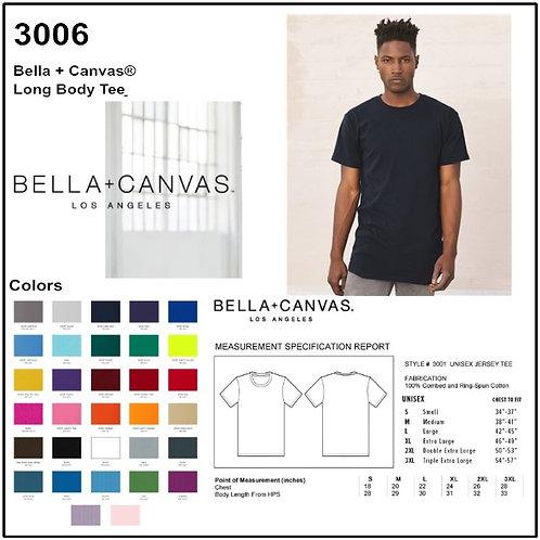 Personalize -Bella Canvas 3006 - Men's Long Body Urban Short Sleeve Tee
