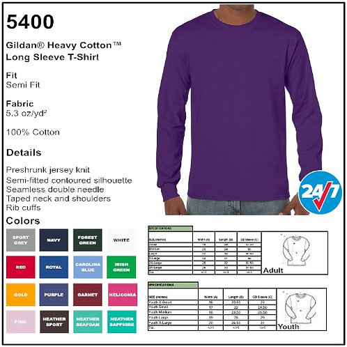 Personalize -Gildan 5400 - Heavy Cotton LS T-Shirt