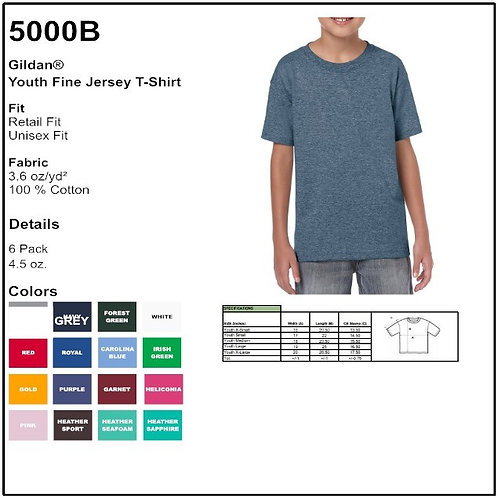 Personalize Gildan 5000B- Youth Cotton T-Shirt