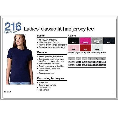Tultex 216 - Ladies' Classic Fit Fine Jersey T-Shirt