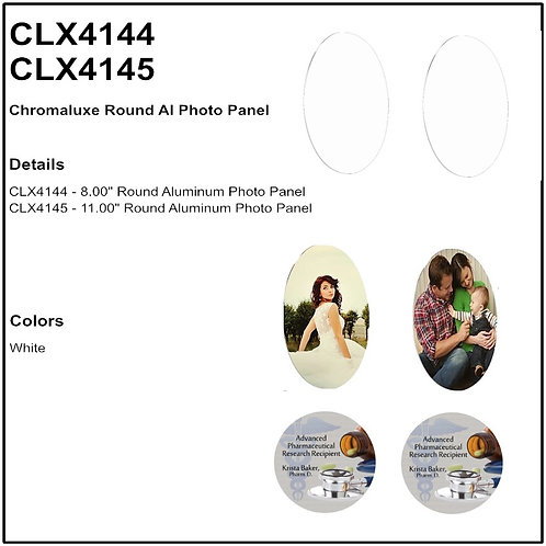 Gloss White Round ChromaLuxe Aluminum Photo Panel