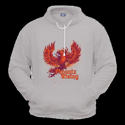 Gildan 18500- Phoenix Rising- Fleece Sweatshirt Hoodie- Grey
