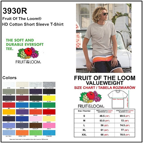 Personalize -Fruit Of The Loom 3930R - HD Cotton Unisex Tee
