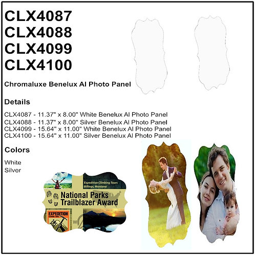Gloss White ChromaLuxe Benelux Aluminum Photo Panel