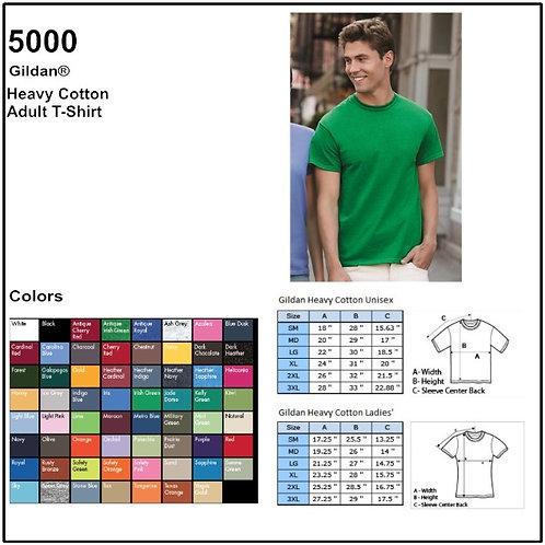 Personalize -Gildan 5000 - Adult Heavy Cotton T-Shirt