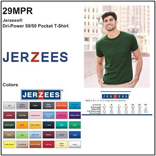 Personalize -JERZEES 29MPR - DRI-POWER Unisex Pocket T-Shirt