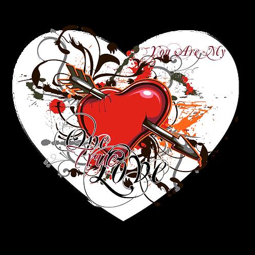 One True Love- Heart Mousepad