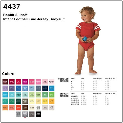 Personalize -Rabbit Skins 4437 - Infant Football Bodysuit