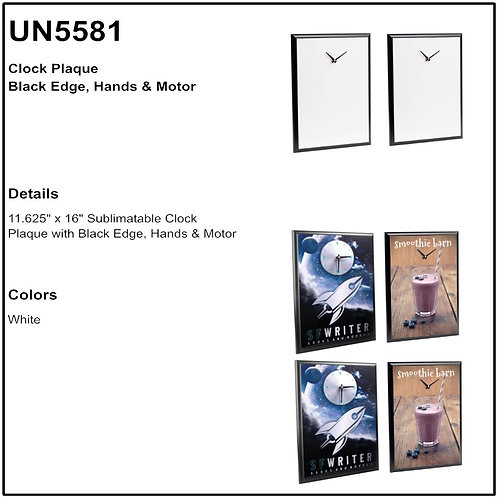 U5581- Unisub MDF Clock Perpetual Plaque Set