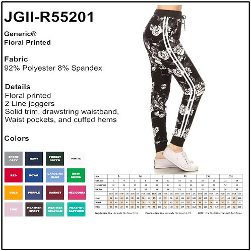 Floral Printed Joggers - JGII - R55201