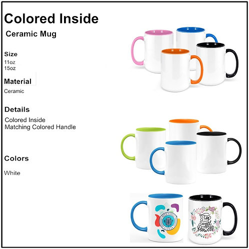 Personalize - Colored Inside & Handle Coffee Mugs
