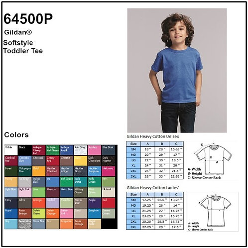 Personalize -Gildan 64500P - Softstyle Toddler T