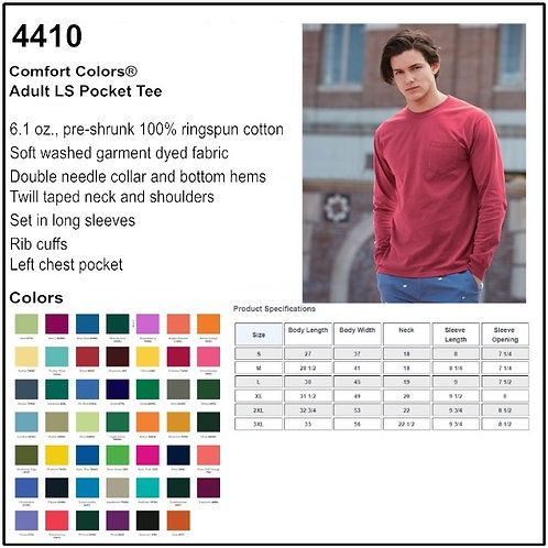 Personalize -Comfort Colors 4410 - Adult LS Pocket Tee