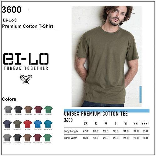 Personalize -Ei-Lo 3600 - Premium Cotton T-Shirt