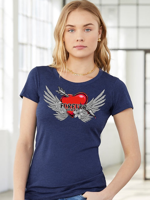 Forever Yours Valentine Day Tee - Vintage Bella+Canvas BC8413