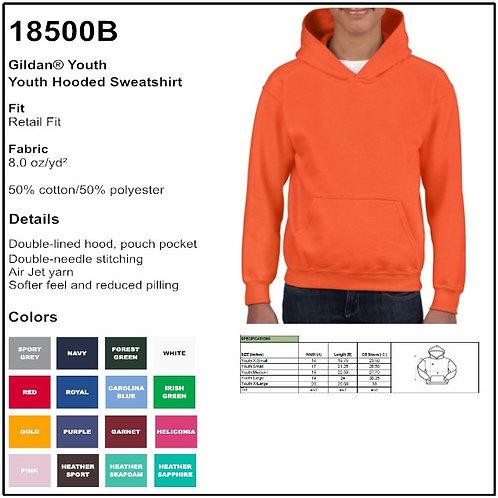 Personalize -Gildan 18500B - Youth Hooded Sweatshirt