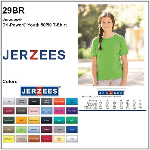 Personalize -JERZEES 29BR - DRI-POWER Youth Tee