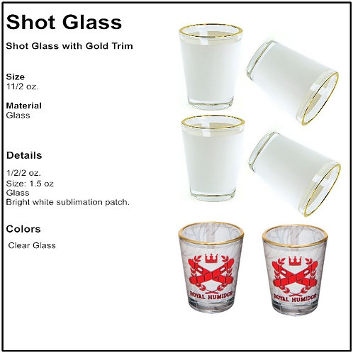 Personalize Shot Glass With Gold Rim