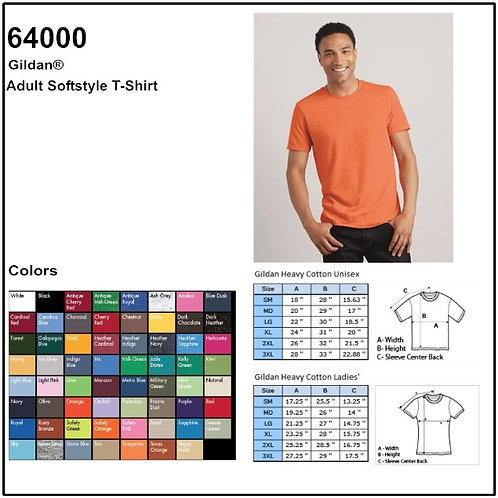 Personalize -Gildan 64000 - Adult Softstyle Crew Neck