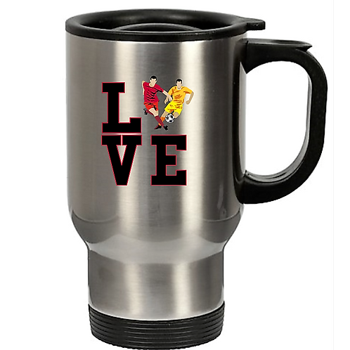 Soccer Fans Travel Mug- Stainless Steel