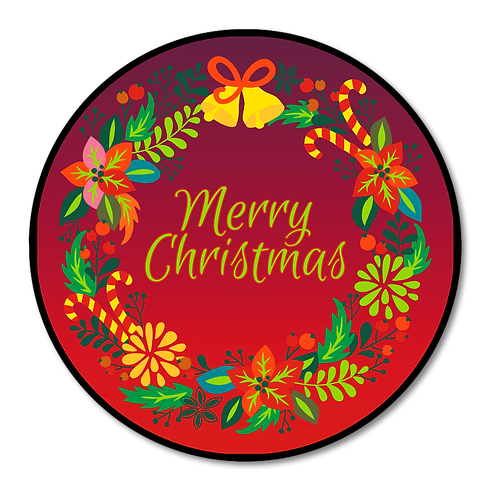 Merry Christmas - Round Plaques