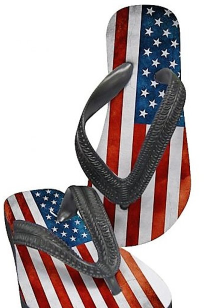 American Flag-Children's Flipflops