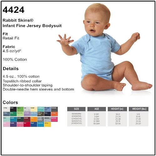 Personalize Infant Unisex Fine Jersey Bodysuit