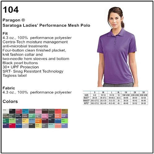 Personalize - Paragon 104 - Saratoga Ladies Performance Mesh Polo