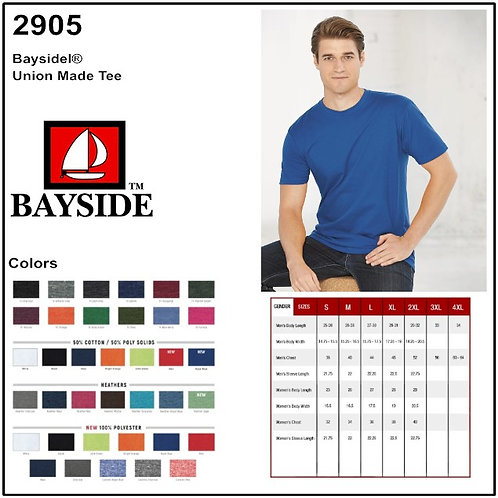 Personalize -Bayside 2905 - Union Made Tee