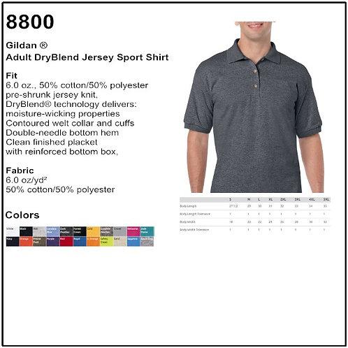 Personalize - Gildan 8800 - Adult DryBlend Jersey Sport Shirt