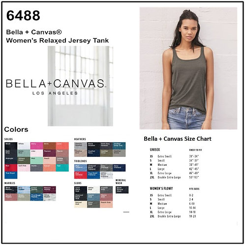 Personalize -Bella Canvas 6488 - Women's Relaxed Tank