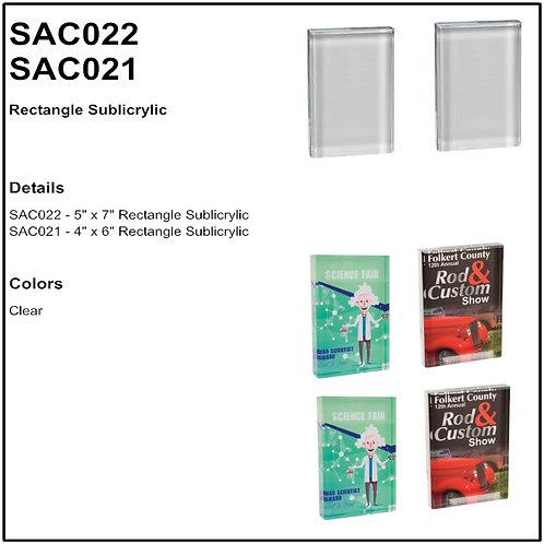 """SAC021 - 4"""" x 6"""" Rectangle Sublicrylic"""