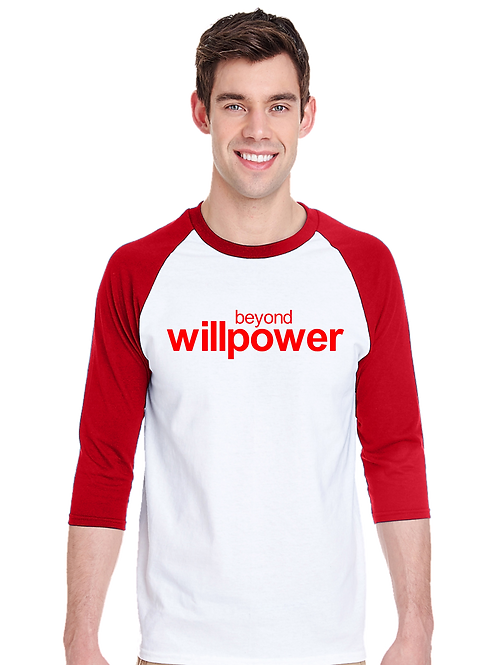 Beyond Willpower Design Raglan- Tultex 245- White/Red